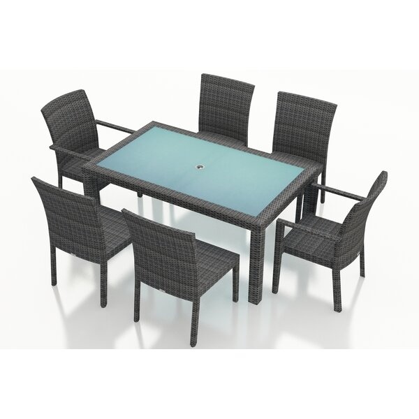 Hobbs 7 Piece Sunbrella Dining Set By Rosecliff Heights