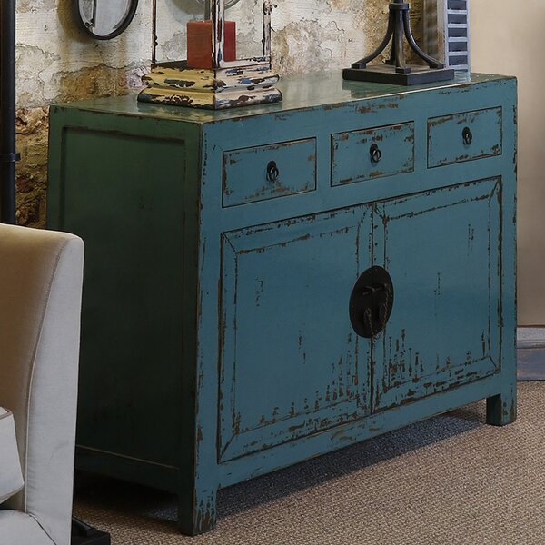 Brookleigh Antiqued 2 Door 3 Drawer Accent Cabinet by Bungalow Rose