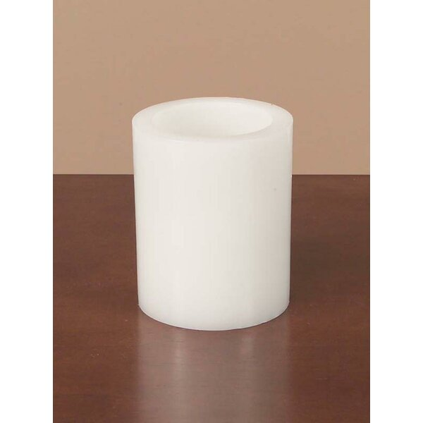 Battery Operated Flameless LED Wax Pillar Candle by The Holiday Aisle