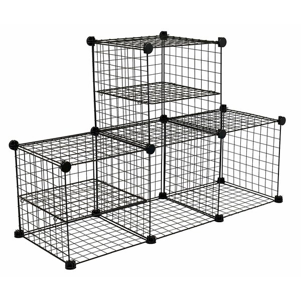 Abeyta Wire Cube Bookcase By Rebrilliant