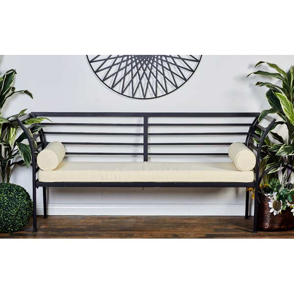 Metal Garden Bench with Cushion by Cole & Grey Cole & Grey