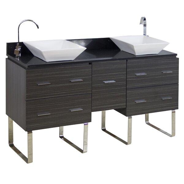 60 Double Modern Bathroom Vanity Set by American Imaginations