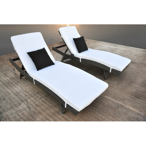 Zori Chaise Lounge With Cushion (Set Of 2) By Solis Patio