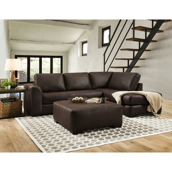 Best Design Prou Right Hand Facing Sofa and Chaise Sectional with Ottoman by Loon Peak by Loon Peak