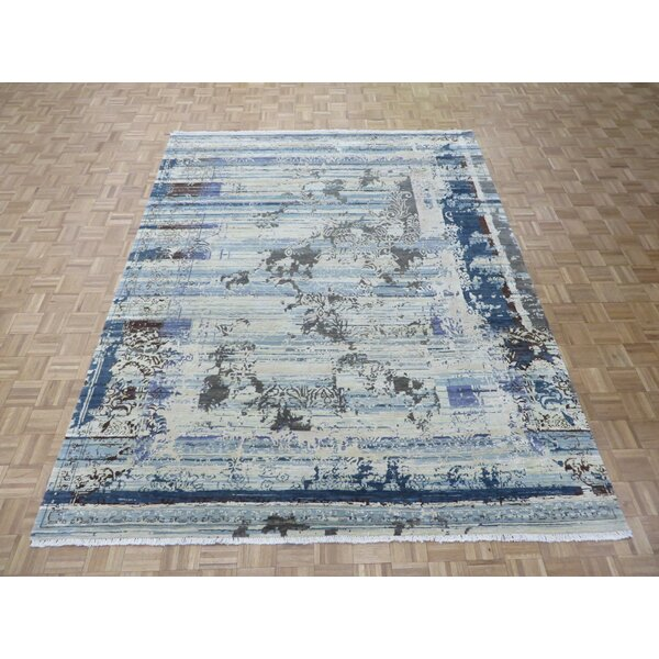 One-of-a-Kind Pasuruan Modern Hand-Knotted Wool Yellow/Brown Area Rug by Bungalow Rose