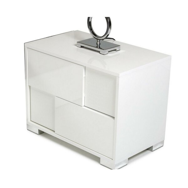 Tonganoxie 2 - Drawer Nightstand In White By Orren Ellis