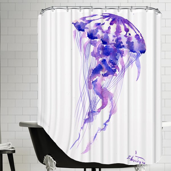 Jellyfish Shower Curtain by East Urban Home