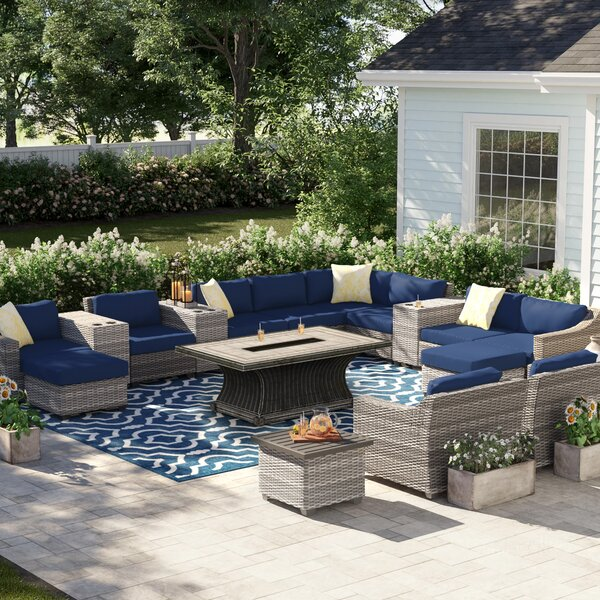 Merlyn 17 Piece Sectional Seating Group with Cushions by Sol 72 Outdoor