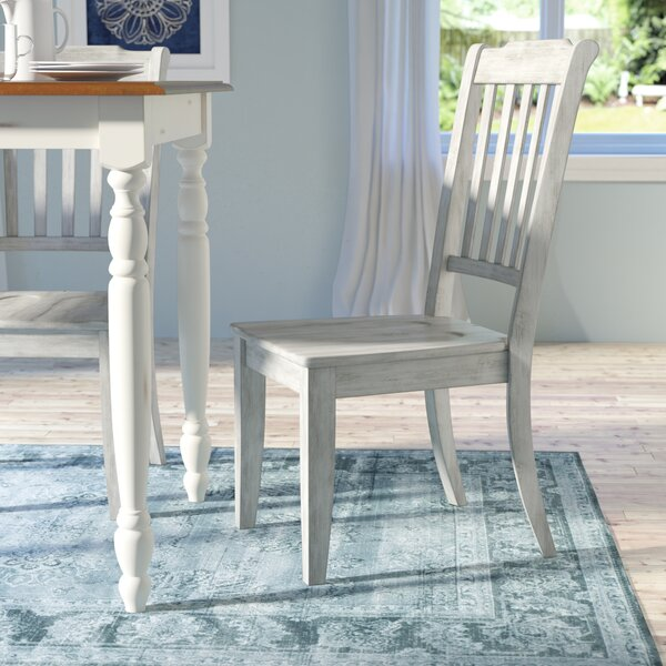 Huling Solid Wood Dining Chair (Set of 2) by Three Posts