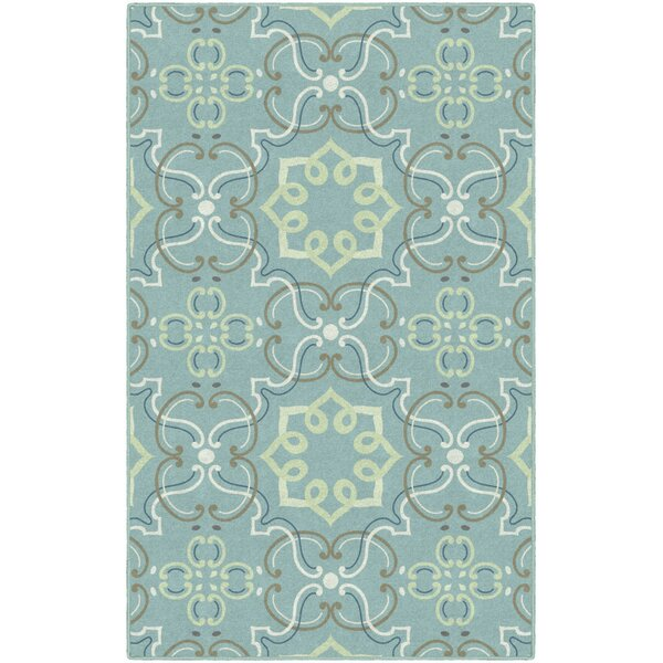 Yoselin Ornamental Medallion Blue Area Rug by Winston Porter