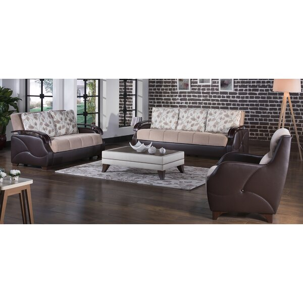 Costa Configurable 3 Piece Sleeper Living Room Set by Latitude Run