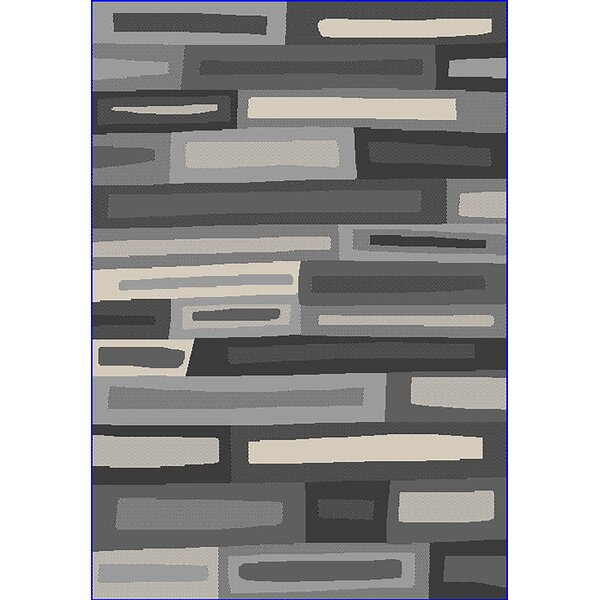 Eclipse 3D Modern Contemporary Abstract Gray Area Rug by Planet Rugs