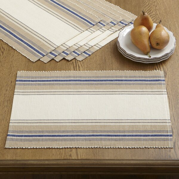 Cece Striped Placemats (Set of 6) by Birch Lane™