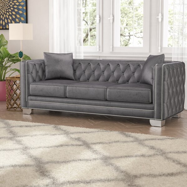 Get The Latest Veun Chesterfield Sofa by Rosdorf Park by Rosdorf Park