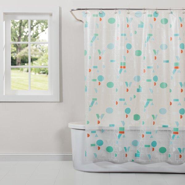 Ozzie Vinyl Shower Curtain by Ebern Designs