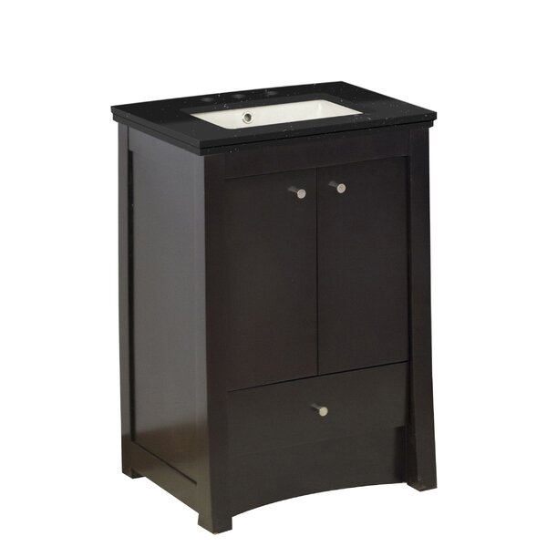 Hardenburgh European Drilling Floor Mount 24 Single Bathroom Vanity Set by Latitude Run
