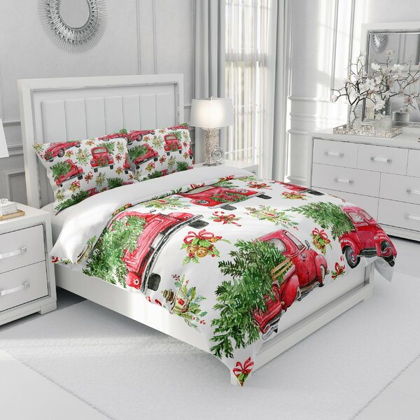 Watkinsville Truck and Christmas Tree Duvet Cover Set