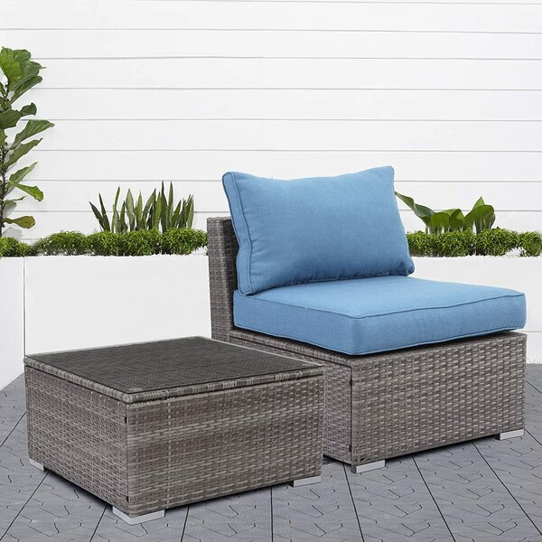 Townsell Patio 4 Piece Rattan Sofa Seating Group with Cushions by Ebern Designs
