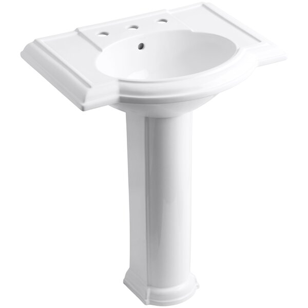 Devonshire® Ceramic 28 Pedestal Bathroom Sink wit
