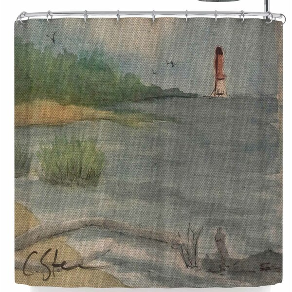 Cyndi Steen Abate Coastal Shower Curtain by East Urban Home