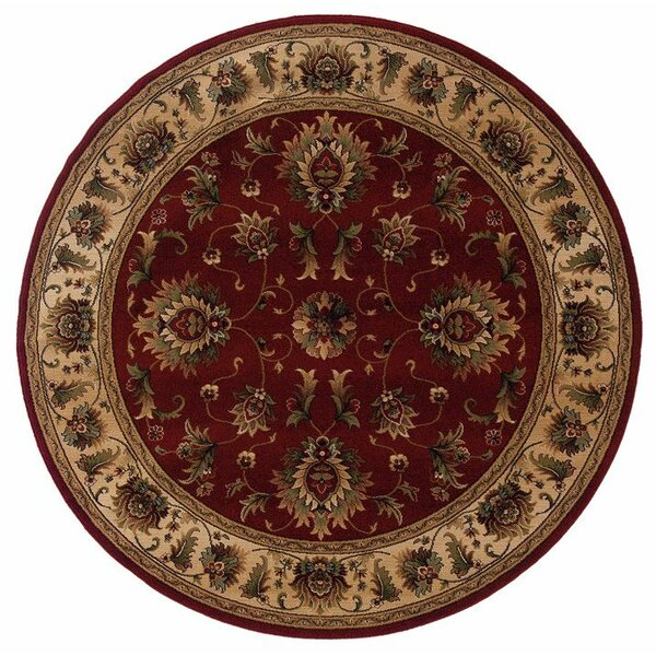 Currahee Red/Ivory Area Rug by Charlton Home