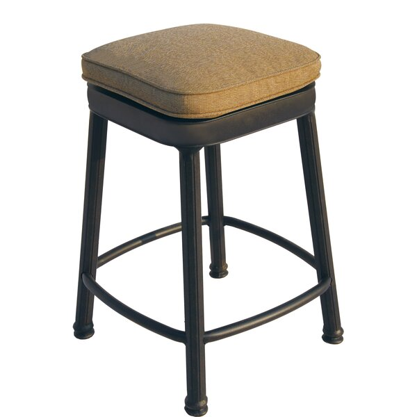 Aberdeen 30 Patio Bar Stool with Cushion by Alcott Hill