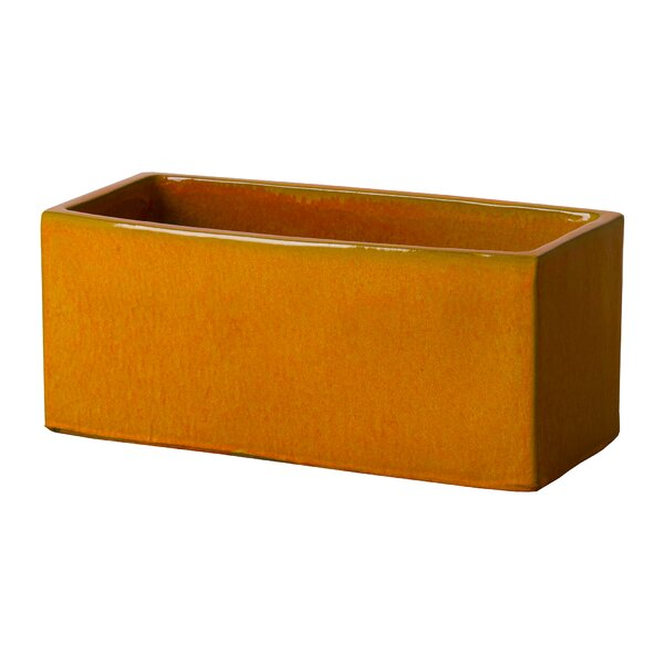 Stampley Large Window Ceramic Planter Box by Bay Isle Home