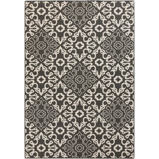 Pearce Black/Cream Indoor/Outdoor Area Rug By Charlton Home