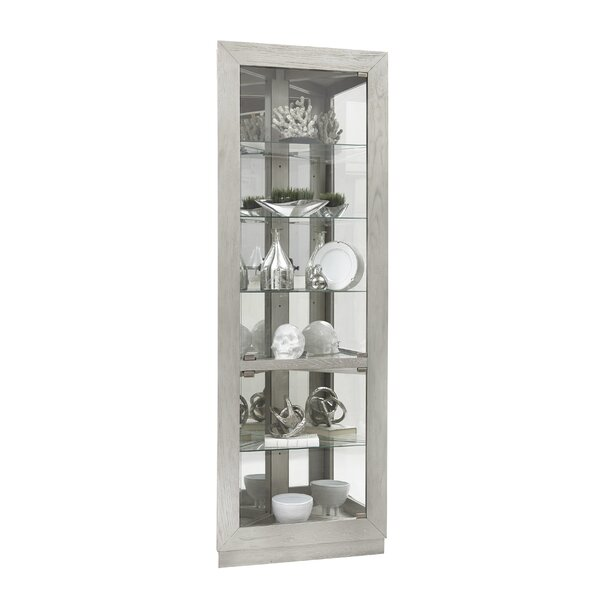 Yuriko Asymmetrical 2 Door Lighted Corner Curio Cabinet by Ivy Bronx
