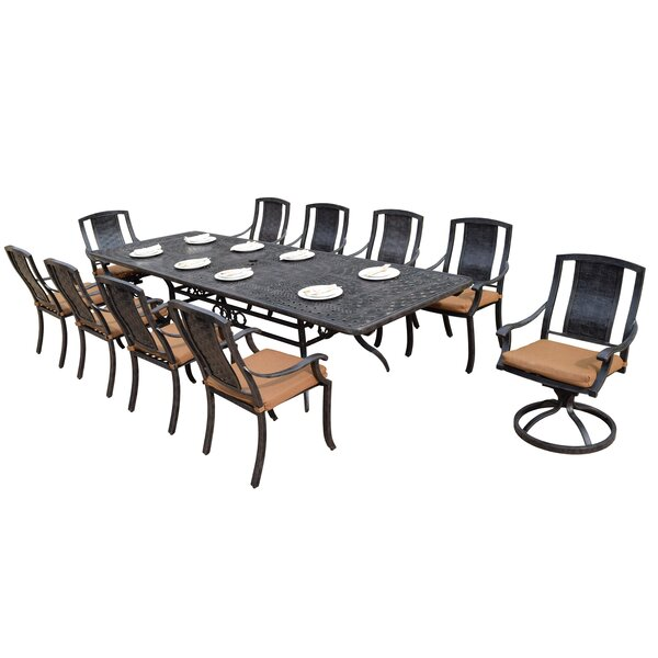 Zulema 11 Piece Dining Set with Cushions by Charlton Home