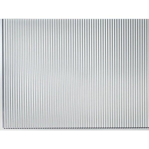 Rib Backsplash Wall Paneling 18 x 24 Field Tile in Brushed Aluminum by MirroFlex