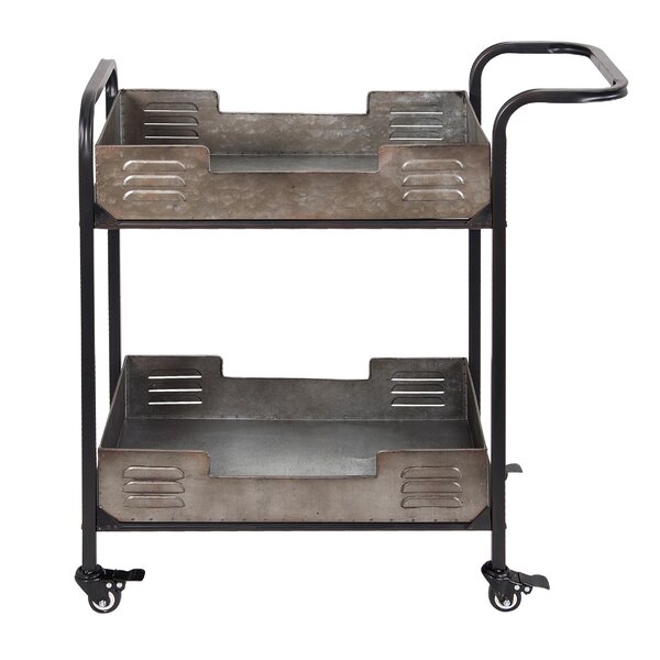 Clarkesville Rustic Metal Bar Cart by Williston Forge Williston Forge