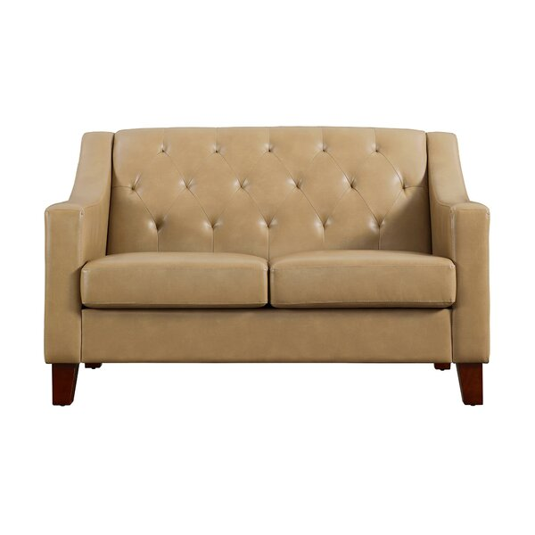 Birmingham Tufted Back Track Arm Loveseat by Alcott Hill