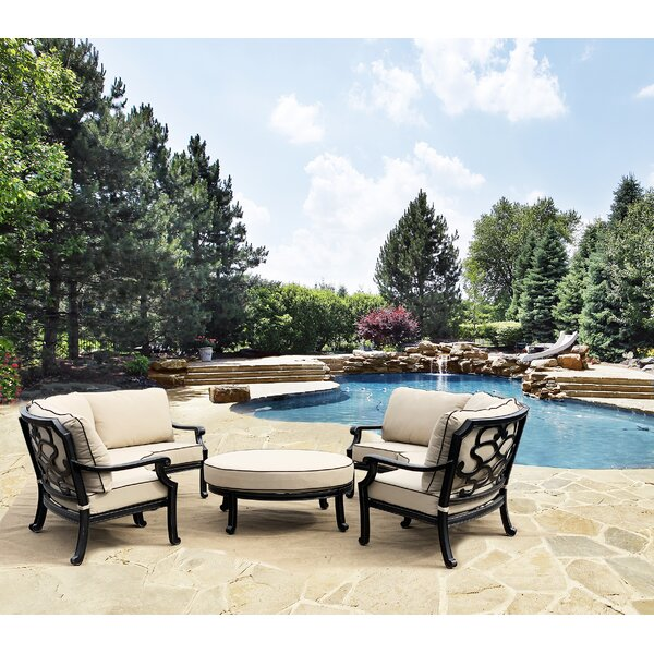 Stojiljkovic 2 Curved 3 Piece Multiple Chairs Seating Group with Sunbrella Cushions by Charlton Home