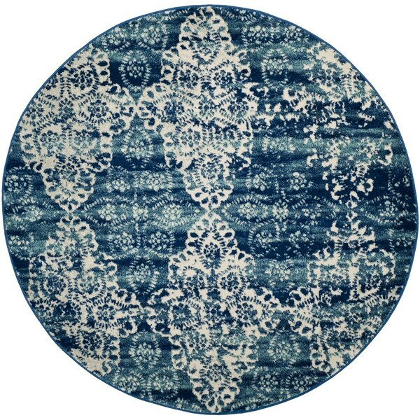 Ameesha Royal/Ivory Area Rug by Bungalow Rose