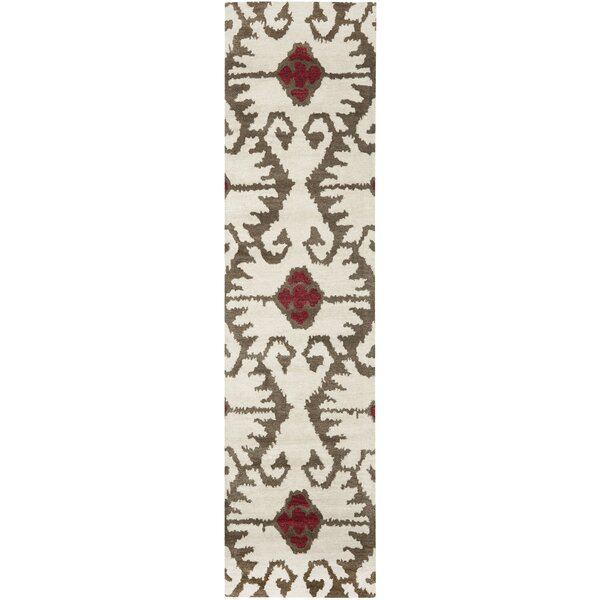 Kouerga Ivory Brown Area Rug by Bungalow Rose