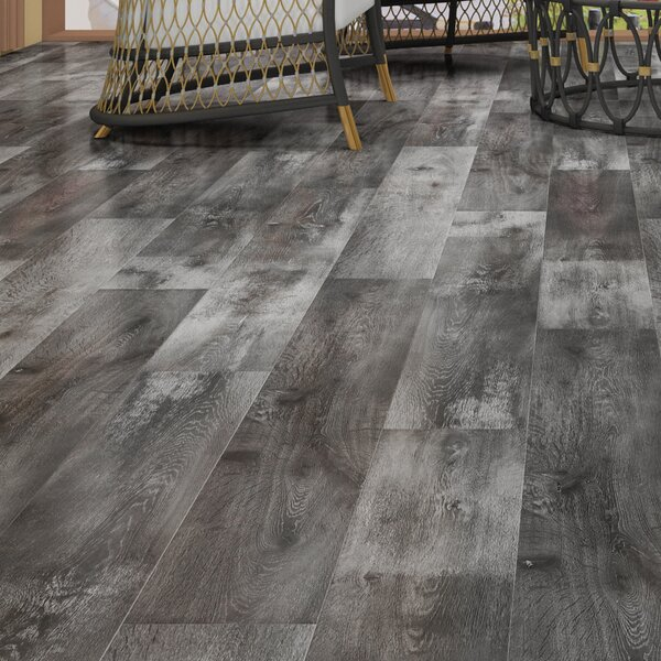 Novus 6.5 x 48 x 12mm Oak Laminate Flooring in Gainsboro Slate by Montserrat