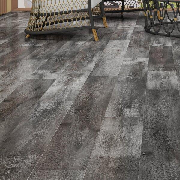 Novus 6.5 x 48 x 12mm Oak Laminate Flooring in Gainsboro Slate by Montserrat