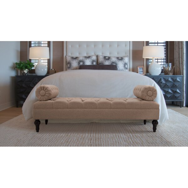 Delaney Bolstered Lounge Upholstered Bench by Rosdorf Park