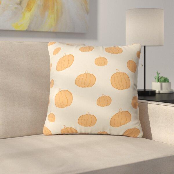 Pumpkins Throw Pillow by East Urban Home