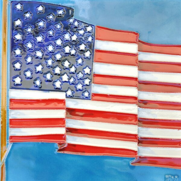 American Flag Tile Wall Decor by Continental Art Center