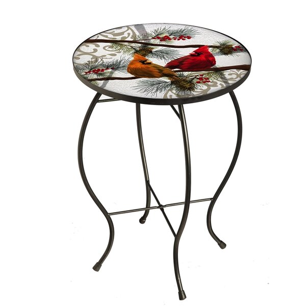 Seasonal Cardinals Bistro Table by The Holiday Aisle