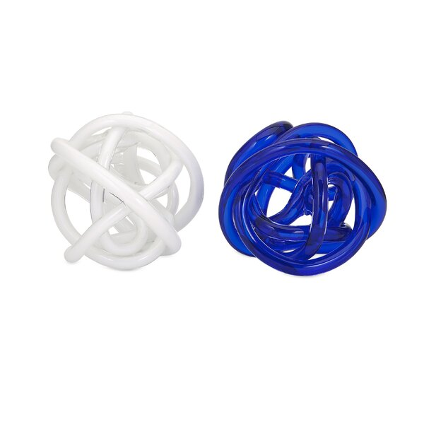 Artresnahan Astonishing Oversized Glass Knot Sculpture (Set of 2) by Orren Ellis