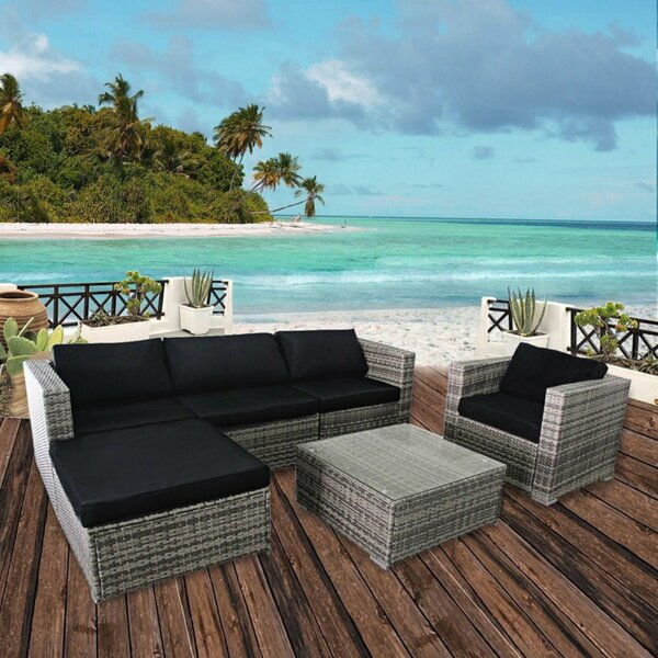 Almendarez 6 Piece Sectional Seating Group with Cushions by Breakwater Bay