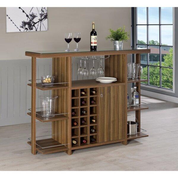 Constandache Bar with Wine Storage by Ebern Designs Ebern Designs