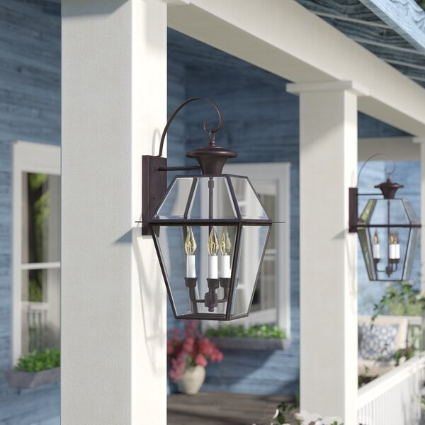 Orchard Lane Traditional 3-Light Outdoor Wall Lantern by Three Posts