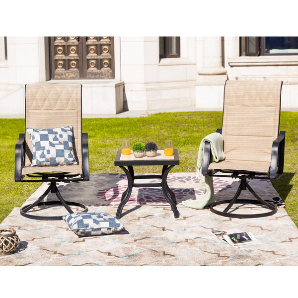 Strawser 3 Piece Seating Group by Charlton Home