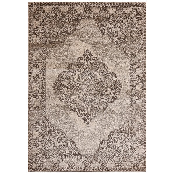 Kulick Chester Medallion Design Brown Rug
