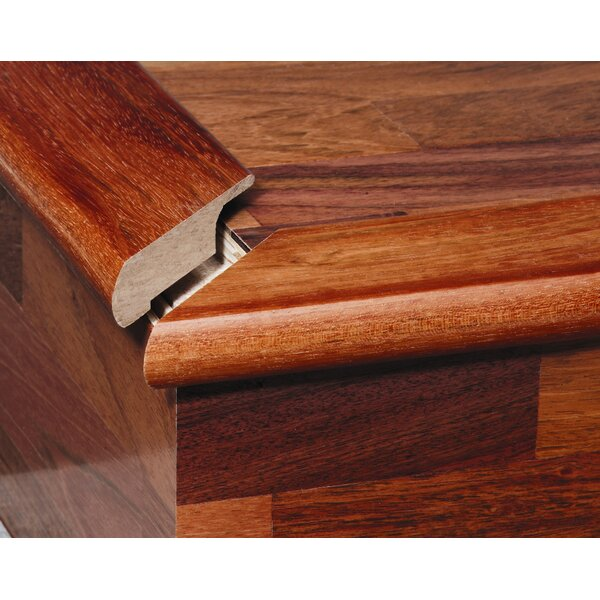 0.34 x 2 x 78 Solid Brazilian Cherry Overlap Stair Nose by Moldings Online