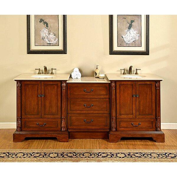 Lulu 87 Double Bathroom Vanity Set